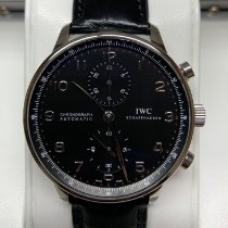 IWC Portuguese Chronograph Acero 41mm Negro Árabes