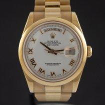 Rolex Day-Date 36 Pозовое золото 36mm Белый Римские