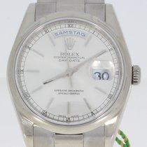 Rolex Day-Date 36 Weißgold 36mm Silber Deutschland, Wiesbaden