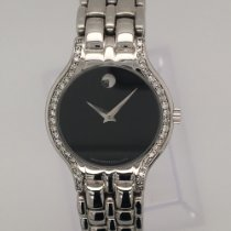 Movado Witgoud Quartz Movado 18 kt Museum watch with diamond. tweedehands