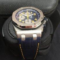 Audemars Piguet Or blanc Remontage automatique Bleu Arabes 42mm occasion Royal Oak Offshore Chronograph