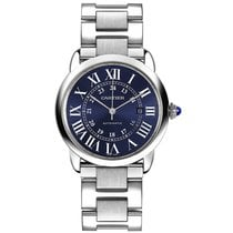 Cartier Ronde Croisière de Cartier Steel 42mm Blue Roman numerals United Kingdom, London