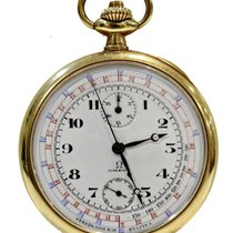 4fa798d08cf Omega Vintage Telemetre Pocket Watch in Gold 18Kt 50mm