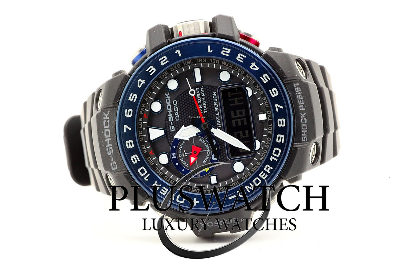 Casio G-Shock Gulfmaster GWN-1000B-1BER G for  481 for sale from a Trusted  Seller on Chrono24 b0b4c255b