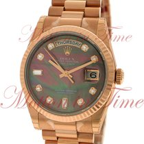 Rolex Day-Date 36 Or rose 36mm Nacre Sans chiffres