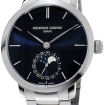 Frederique Constant Manufacture Slimline Moonphase Steel Blue United States of America, New York, Brooklyn
