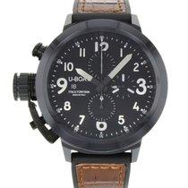 U-Boat 7388 Flightdeck 50 Black Ceramic Chronograph Automatic...