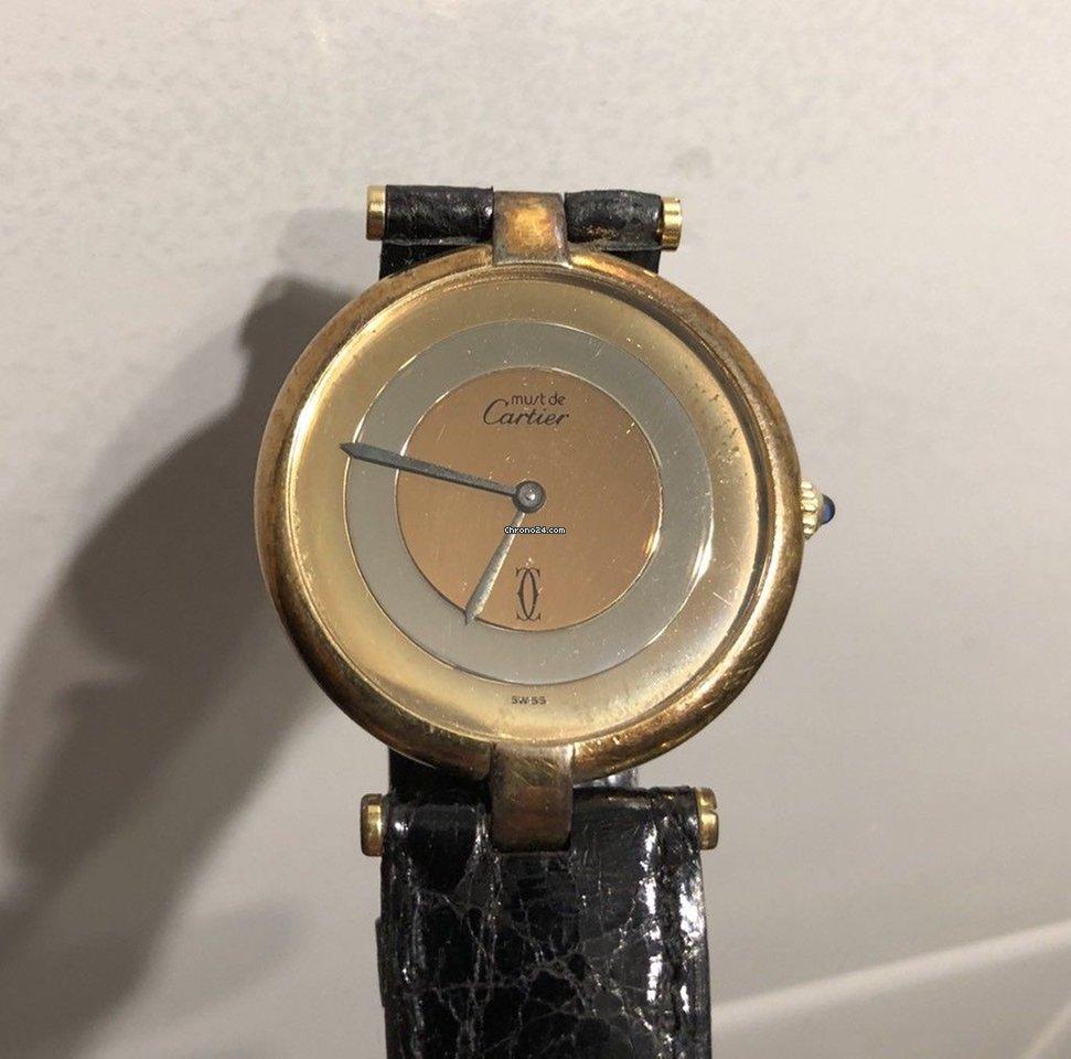 b993f8053d9 Cartier Paris Argent quarts 925 plaque or G 20m por R  2.301 para vender  por um Vendedor particular na Chrono24