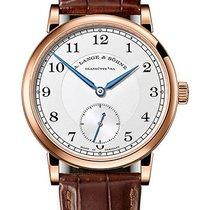 A. Lange & Söhne Red gold Manual winding Silver Arabic numerals 38,5mm new 1815