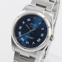 Rolex Air King Acero 34mm Azul Romanos