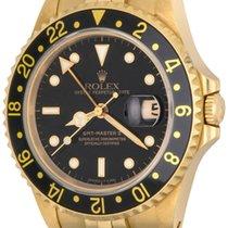 Rolex GMT-Master II Жёлтое золото 41mm Чёрный Без цифр