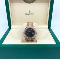 Rolex Day-Date II Rose gold 41mm Black Roman numerals United States of America, New York, New York
