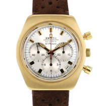 Zenith El Primero pre-owned 38mm Silver Chronograph Date Leather