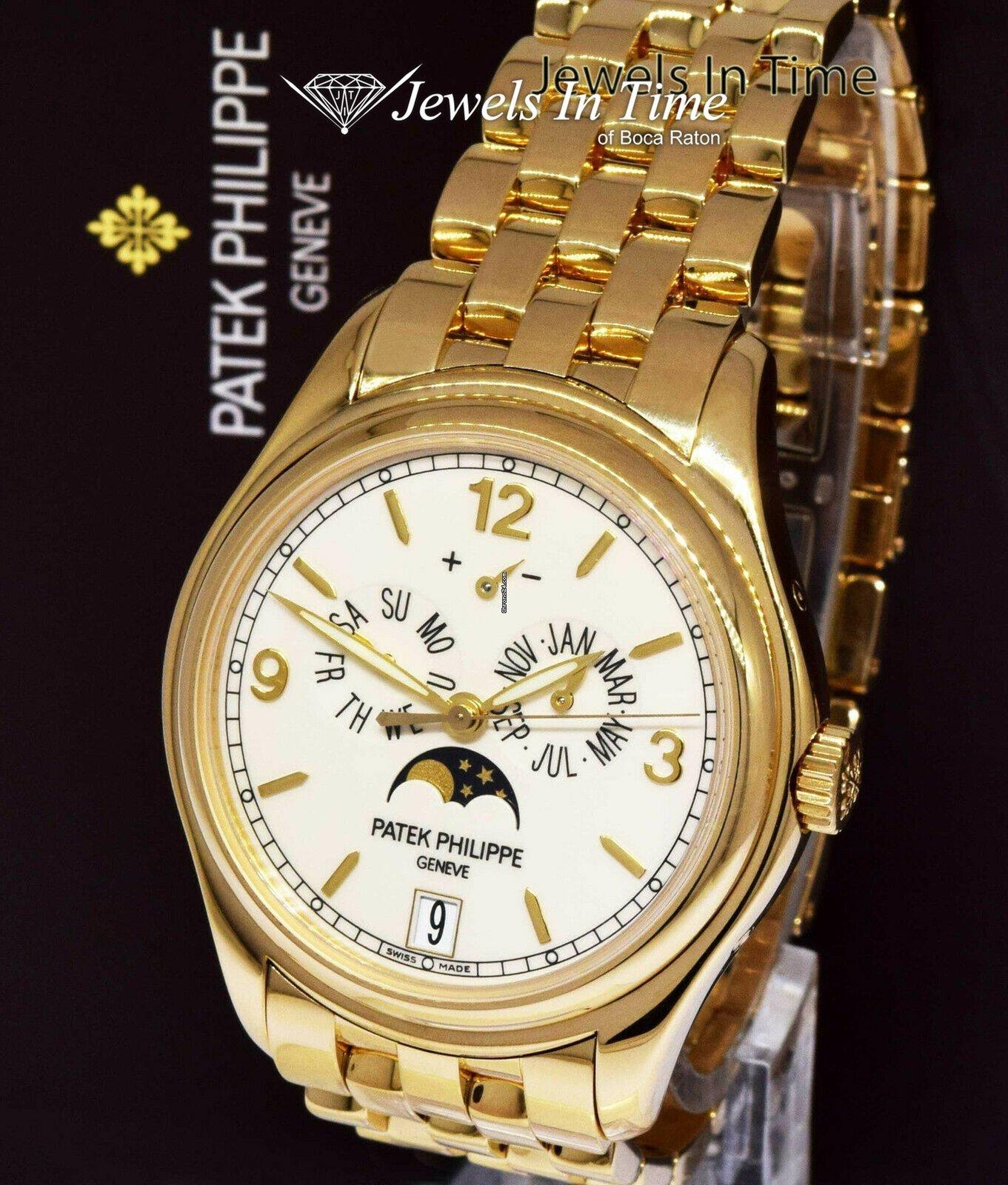 666eeb207a2 Patek Philippe Annual Calendar 5146 18k Yellow Gold Watch Box/Paper 5146/1J