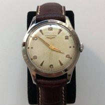 Longines Steel 35mm Manual winding Longines classic vintage cal. 12.68ZS (1952) pre-owned Finland, Turku
