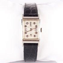 Bulova Vintage Faceted Crystal Wrist Watch W/ Diamonds