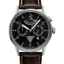 Junkers G38 Automatic Watch 42mm Day/month Pwr Res Clear Back...