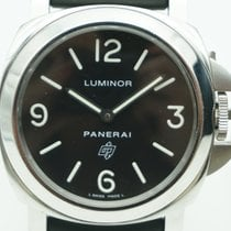 Panerai 44mm Automatic 2014 pre-owned Luminor Base Logo Black