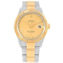 Rolex Datejust Turnograph Steel Yellow Gold Mens Watch 16263...