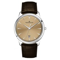 Jaeger-LeCoultre Master Ultra Thin Date Steel 40mm Champagne No numerals United States of America, Iowa