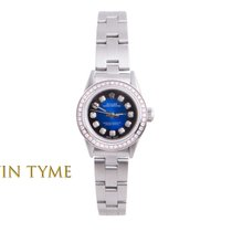 Rolex Ladies SS Oyster Perpetual - Blue Vignette Diamond Dial...