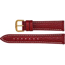 Unbranded Red Leather Watch Band Sport Calfskin Padded 22 Long...