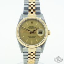 Rolex Datejust | Steel & Gold Champagne Dial | 16233
