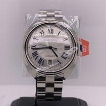 Cartier Clé de Cartier Staal 40mm Zilver Romeins