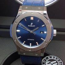 Hublot Classic Fusion Blue Titan 42mm Plav-modar Bez brojeva
