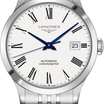 Longines Record Steel 38,5mm White