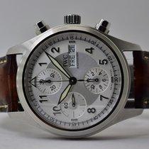 IWC Fliegeruhr Spitfire Chronograph Stahl 39mm Silber Arabisch Deutschland, Iffezheim