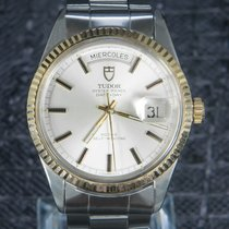 Tudor Prince Date Gold/Steel 36mm Silver No numerals