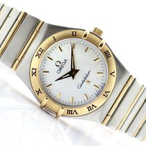 Omega Constellation Ladies Gold/Steel 25mm Mother of pearl No numerals
