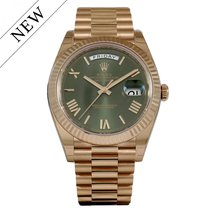 Rolex Day Date 40mm Everose Gold Green Dial 228235 NEW
