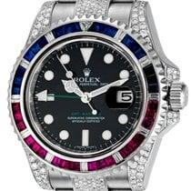 Rolex GMT-Master II Steel Pepsi Bezel Diamond Set 116710LN