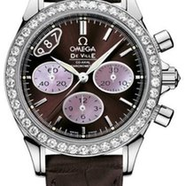Omega DeVille Co-Axial Chronograph Brown Ladies Watch