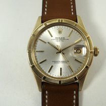 Rolex Oyster Perpetual Date pre-owned 35mm Yellow gold