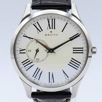Zenith Elite Ultra Thin Steel 40mm White No numerals