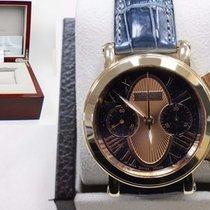 Tourneau Gotham 18k Rose Gold Limited Edition Blue & Rose...