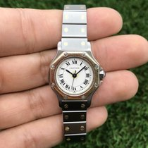 Cartier Santos (submodel) Gold/Steel 25mm White