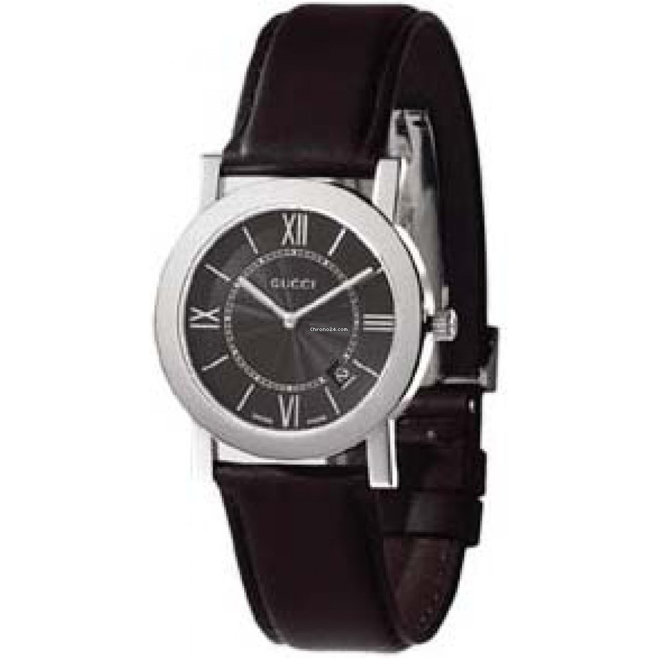Gucci Reloj Gucci unisex negro Piel for  481 for sale from a Trusted Seller  on Chrono24 a3b312f641b