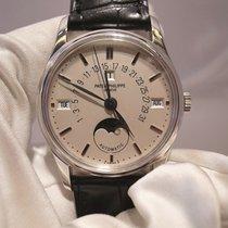 Patek Philippe Perpetual Calendar Platin 35.5mm Silber