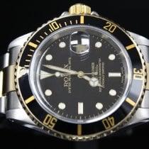 Rolex Submariner Date Gold/Stahl 40mm Schwarz