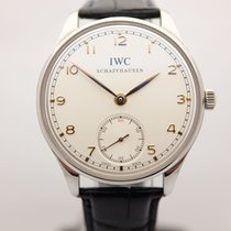 IWC Portuguese Hand-Wound Steel 44mm Silver Canada, Montreal
