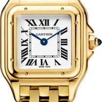 Cartier Panthère Yellow gold 22mm Silver Roman numerals United States of America, Florida, Sunny Isles Beach
