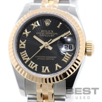 Rolex Lady-Datejust Gold/Steel 26mm Black