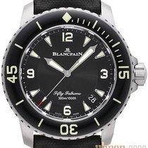 Blancpain Fifty Fathoms neu 2019 Automatik Uhr mit Original-Box und Original-Papieren 5015-12B30-B52A