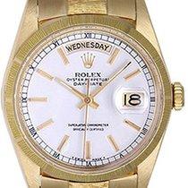Rolex Day-Date Weißgold 36mm Weiß Keine Ziffern