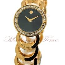 Movado Rondiro Ladies, Black Dial, Diamond Bezel - Gold Plated...