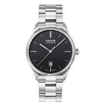 Union Glashütte Viro Date Silver 41mm Black No numerals